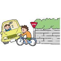 交差点での信号遵守と一時停止、安全確認 イメージ
