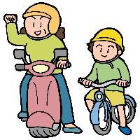 子どもはヘルメットを着用 イメージ