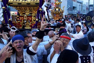フォトコンテスト:神社神輿還御