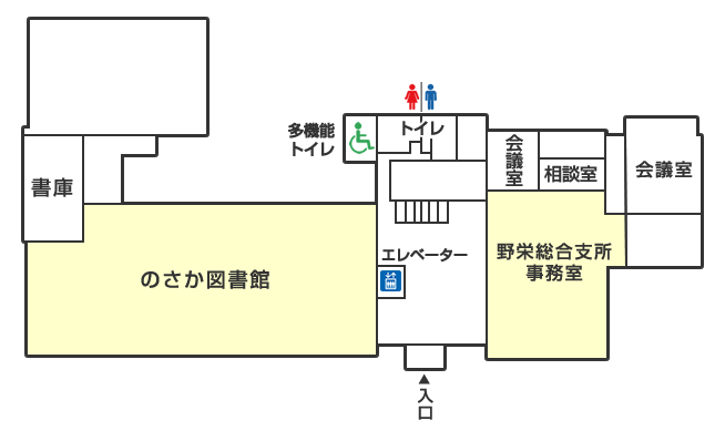 野栄総合支所1階