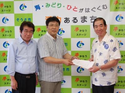 国保匝瑳市民病院の再建に関する意見書を手渡し