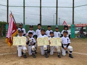 優勝した野栄スポーツ少年団