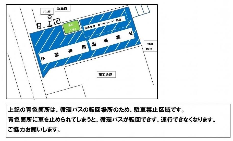 市内循環バスの駐車禁止区域
