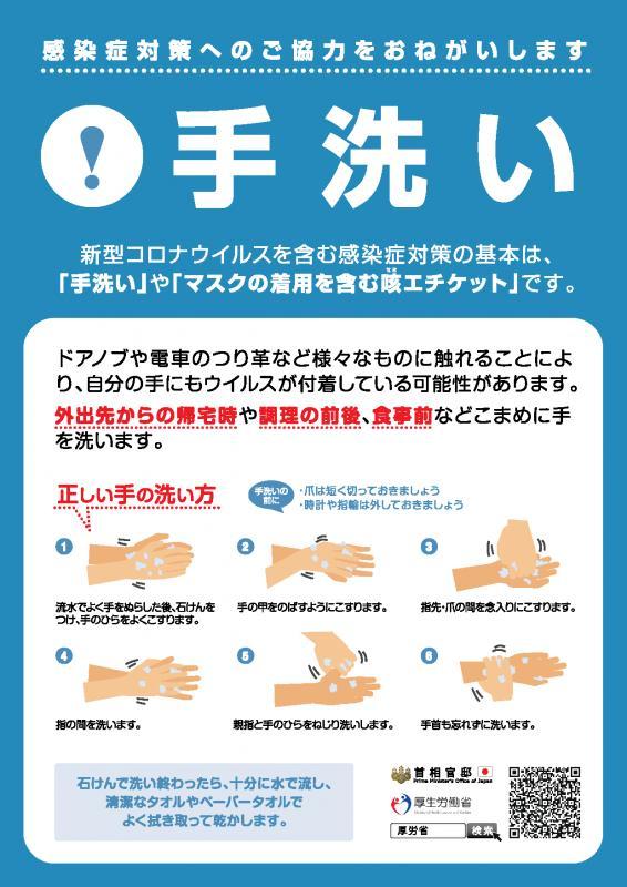 手洗い(新型コロナウイルス対策)