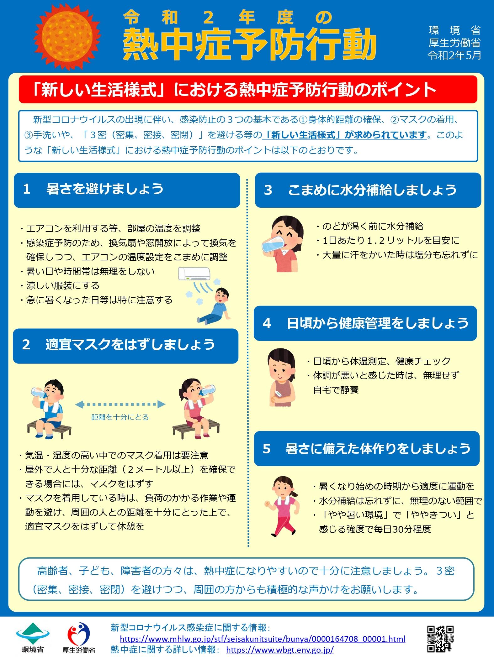 「新しい生活様式」における熱中症予防行動