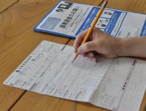 国勢調査紙調査票回答